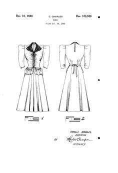 1940 DESIGN FOR A DRESS   Camille Charles