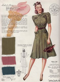 In my last post, I mentioned that I'd purchased a pile of sample cards created by Fashion Frocks, a dress manufacturing company located in. Motif Vintage, Vintage Mode, Vintage Dress Patterns, Style Vintage, 50s Vintage, Vintage Hats, 1940s Fashion Women, Retro Fashion 50s, Vintage Fashion