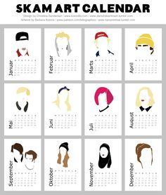 Skam Printable Calendars 2017