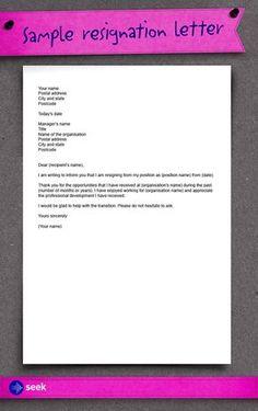 Resignation letter: How to write a resignation letter - Career Advice Hub | SEEK