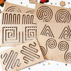 Pre Writing, Writing Skills, Writing Problems, Stencils, Wooden Wand, Montessori Baby Toys, Montessori Materials, Learning To Write, Wood Toys