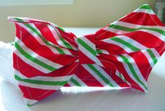 Dog Bow Tie - Christmas - Candy Cane Stripe by katiesk9kollars on Etsy