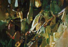 クレモニーニの肉片 LEONARDO CREMONINI - すそ洗い Abstract Oil, Painting & Drawing, Plant Leaves, Illustration Art, Drawings, Artwork, Inspiration, Bodies, Mixed Media
