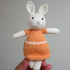 Toy knitting pattern for a seasonal selection of sweaters (to fit the 9 inch animals) The Animals, Julie Williams, Knitting Patterns, Crochet Patterns, Little Cotton Rabbits, Mini One, Thick Yarn, Little Elephant, Easter Crochet