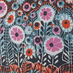 Flower Power linocut by Zebedeeprint