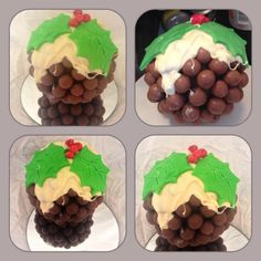 Chocolate Malteser Xmas pudding completely edible