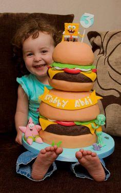 Krabby Patty Cake   Black Cherry Cake Company