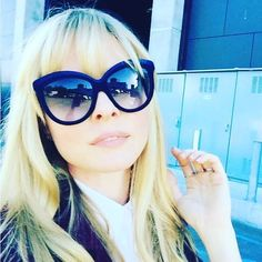 f788f14eb Spotted Empire actress Kaitlin Doubleday wearing ItaliaIndependent  www.foursunnies.com #sunglasses #gafasdesol