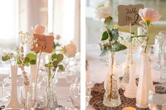 gorgeous but simple centerpieces!