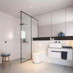 48 Modern Tiny House Bathroom Remodel Design Ideas - Bathroom interior design has become a passion for the modern city dwellers. Life has become so fast that if things are not in the right place when you. Tiny House Bathroom, Family Bathroom, Bathroom Renos, Small Bathroom, Bathroom Ideas, Master Bathroom, Bad Inspiration, Bathroom Inspiration, Modern Bathroom Design