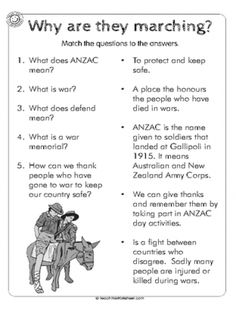 Select from a large range of generated, static or user created worksheets. Also create your own worksheets Education And Literacy, Kids Education, Anzac Soldiers, Activities For 6 Year Olds, Remembrance Day Activities, Memorial Cards, School Worksheets, Australian Curriculum, Australia Day