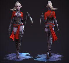 Dark Elf Assassin by Adam-Fisher on deviantART
