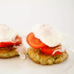 Zucchini Fritters with Poached Eggs