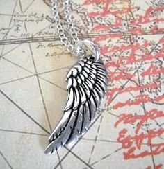A Beautiful Soul Angel Wing Charm Necklace  gift by lucindascharms, $12.00