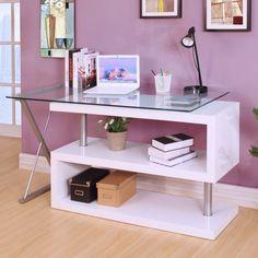 Lachlan Glass L-Shape Credenza desk – Glass Office Desk L Shaped Executive Desk, Desk Tags, Glass Office, Contemporary Desk, Best Desk, White Desks, Home Office Desks, All Modern, Space Saving
