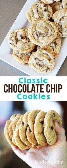 The BEST Classic Chocolate Chip Cookies Recipe via Landeelu