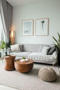Boho Living Room, Home And Living, Earthy Living Room, Gray Couch Living Room, Nordic Living Room, Barn Living, Living Room No Tv, Simple Living Room Decor, Black And White Living Room Decor