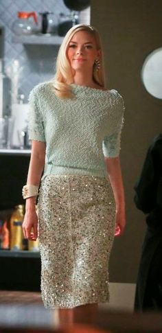 "Lemon's Nina Ricci Tweed Paillette Skirt ""Hart of Dixie"" Season 3, Episode 20 ""Together Again"""