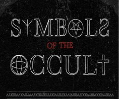 — Want to know which symbol belongs to which occult...
