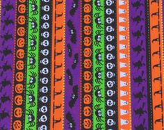 Halloween Fabric by Timeless Treasures Halloween Runner, Halloween Fabric, Home Decor Fabric, Cotton Fabric, Quilts, Unique, Handmade, Yard, Etsy