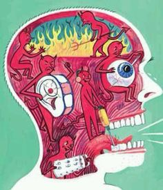 Perfect illustration! :( for trigeminal neuralgia. This is how I feel right now