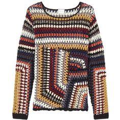 East Hand Crochet Jumper, Multi