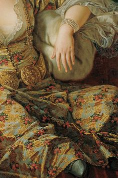 Portrait of the Countess of Vergennes in Turkish Attireontes of Vergennes in Turkish Gown by Antoine de Favray (detail) | via Tumblr