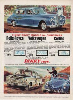 DINKY TOYS - ROLLS ROYCE / VOLKSWAGEN / CORTINA (1965 Advertisement) | eBay