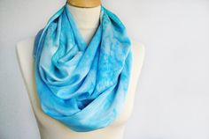 Hand Dyed Silk Scarf Silk hand painted scarf by OLHAVscarves