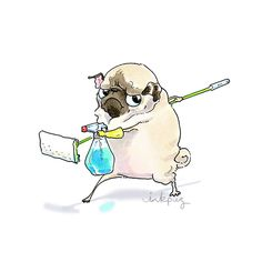 """winnie-the-killer: """" inkpug My sister made this animation of you! """" Flawless! I love it!!!"""