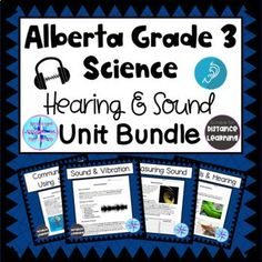 Grade 3 Science, Elementary Science, Hearing Sounds, Science Resources, Activities, Exam Study, Research Projects, Life Cycles, The Unit