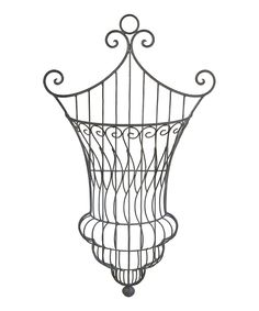 Another great find on #zulily! Black Curlicue Wall Hanging Planter by A&B Home #zulilyfinds