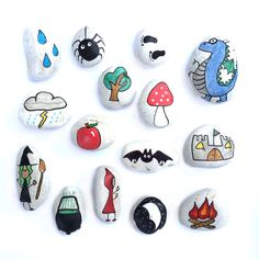 15 fairy themed story stones.  Story stones have long been used in history for story telling and their magic and charm is still as strong as ever. Used in a classroom or at home, story stones ignite the imagination, helps encourage creativity and language. Simply take a stone from the bag and use that picture to start telling the story, pick another stone and include that element in the next part of the adventure!  Bringing story telling to a whole new world, Story Stones are a great way to…