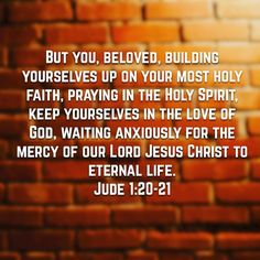 Amen! Prayer the Word Grace and Holy Spirit all working together to build up our Faith in Him!