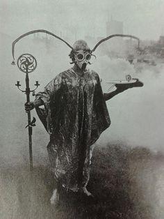 graveyarddust:  Urban Druid performing spirit sorcery in park, around year 1900…