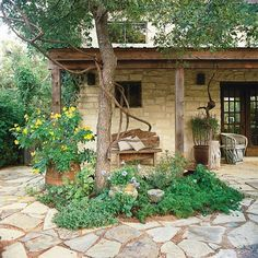 DIY a flagstone paver patio this weekend! We help you make this easy patio with our step by step instructions and materials list. Build a durable and long lasting paver patio that is great to place outdoor furniture! #diy #flagstone #flagstonepatio