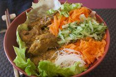 vietnamese lemongrass chicken noodle salad bowl more noodle salads ...