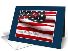 4th of July birthday for son in law card