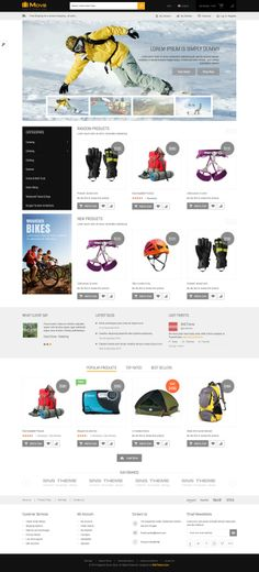 SNS Move is a Premium Responsive #Magento #Theme. If you want to have a very unique and attractive design and trying to make your way among numerous store owners, SNS Move is a great starting point for you. It's #design is perfect for #Travel & Outdoor Gear Shop, #Furniture #Shop, Deco #Store, #Interior Stores, #Digital shop, #Fashion Shop, #Baby Shop, ...