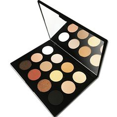 12 Colors Professional Powder Makeup Palette with Mirror Shimmer Matte Eyeshadow Everyday Natural Look  By Beauty Bon ** To view further for this item, visit the image link.