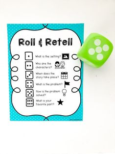 This Roll and Retell Reading Comprehension Activity is helpful for engaging young readers to recall details about stories they have read or listened to! This activity is part of our 30 Days of Reading Fun for Beginning Readers series. Retelling Activities, Reading Activities, Teaching Reading, Student Teaching, Teaching Ideas, Reading Comprehension Games, Comprehension Strategies, Reading Response, Reading Strategies