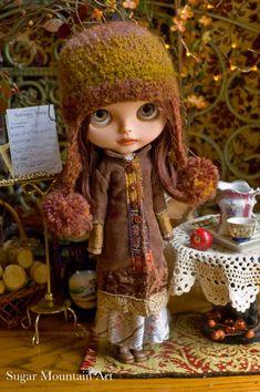 Autumn Earth. Corduroy Coat And Bohemian Wool by SugarMountainArt