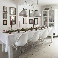 Inspiracion para decorar la mesa en Navidad