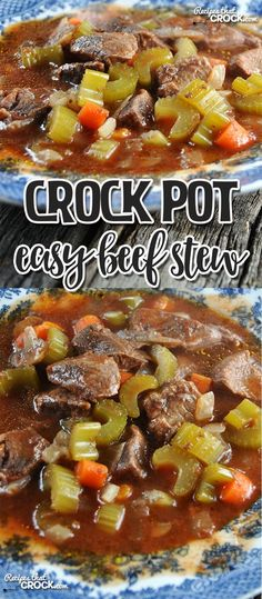 If you love a delicious beef stew with tons of veggies, tender beef and a yummy broth, then you're in for a treat with this Easy Crock Pot Beef Stew!