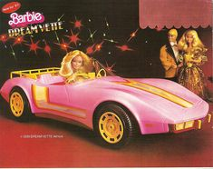 Barbie Dream Vette I was never the kind of girl who played house with my dolls. My version of a Barbie world was Barbie running a high end guest resort while living in her dream house with her dog, Beauty, and her ho… Barbie Vintage, 1980s Barbie, Barbie Car, Barbie Toys, Barbie Dream, Barbie And Ken, Vintage Toys, My Childhood Memories, Childhood Toys