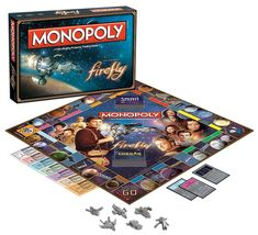 Firefly fans are going to love this Firefly Monopoly game. This version of the property trading game features the big damn heroes of Firefly. Monopoly just got better. The Firefly Monopoly board game features some of your favorite characters and locations from the hit show! Fans are going to
