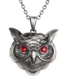 WISE OWL PENDANT - Wicca Witch Pagan Goth Punk Thor Spell New Age