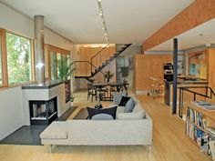 contemporary living room by FISHER ARCHitecture