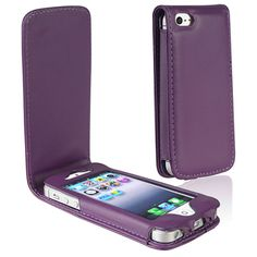 BasAcc Purple Leather Case for Apple iPhone 5