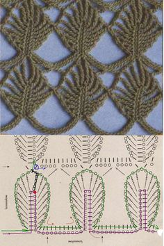 lovely leaf stitch... graphs available, fairly easy to understand ♪ ♪ ... #inspiration_crochet #diy GB